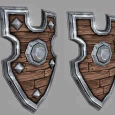 Fantasy Shield 06 3D Model