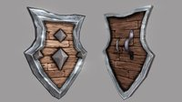 Fantasy Shield 02 3D Model