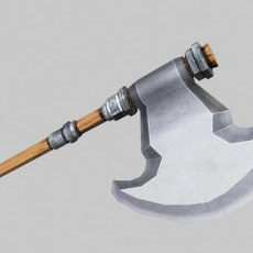 Fantasy Axe 05 3D Model