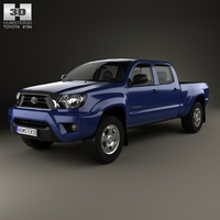 Toyota Tacoma Double Cab Long Bed 2012 3D Model