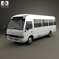 Toyota Coaster 2014 3D Model