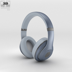 Beats by Dr. Dre Studio Over-Ear Metallic Sky 3D Model