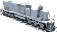 Diesel Locomotive Train Engine 3D Model