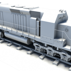 Diesel Locomotive Train Engine 3D Model