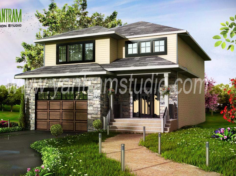 Modern home 3d exterior design show