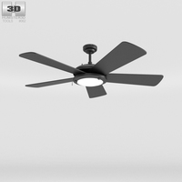 Ceiling Fan Black 3D Model
