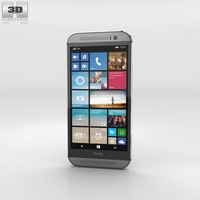 HTC One (M8) Windows Phone Gunmetal Gray 3D Model