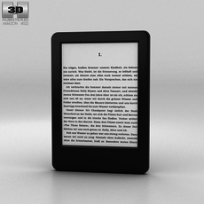 Amazon Kindle Touch Screen E-Reader 3D Model