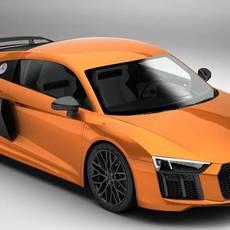 Audi R8 V10 Plus 2016 3D Model