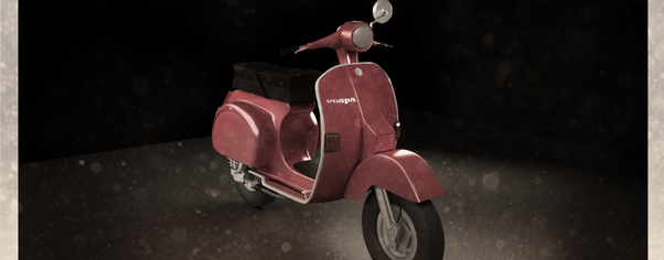 Vespa postcard desaturata wide