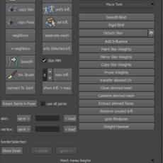 skinning tool for Maya 0.4.0 (maya script)