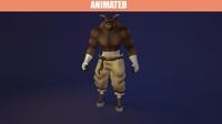 Animated Minotaur 3D Model