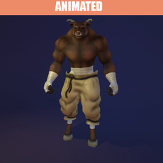 Animated Minotaur 3D Model