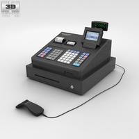 Cash Register Black 3D Model