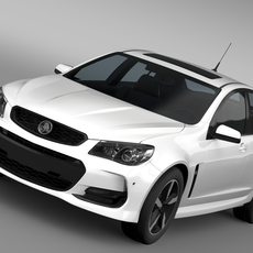 Holden Commodore Black VF Series II 2016 3D Model