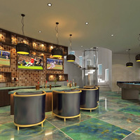 3d interior bar design in modern bunglow cover