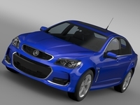 Holden Commodore SV6 VF Series II 2016 3D Model
