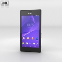 Sony Xperia M2 Aqua Black 3D Model