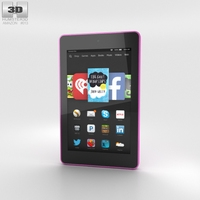Amazon Fire HD 6 Magenta 3D Model