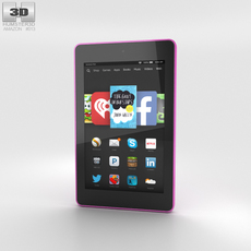 Amazon Fire HD 6 Magenta 3D Model