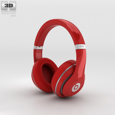 Beats by Dr. Dre Studio Over-Ear Headphones Red 3D Model