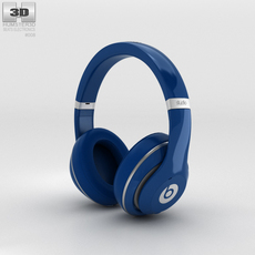 Beats by Dr. Dre Studio Over-Ear Headphones Blue 3D Model
