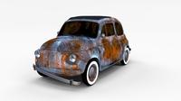 Rusty FIat 500 Nuova rev 3D Model