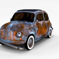 Rusty FIat 500 Nuova rev 3D Model