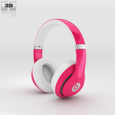 Beats by Dr. Dre Studio Over-Ear Headphones Pink 3D Model