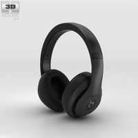 Beats by Dr. Dre Studio Over-Ear Headphones Matte Black 3D Model