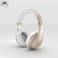 Beats by Dr. Dre Studio Over-Ear Champagne 3D Model