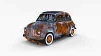 Weathered Fiat 500 Nuova rev 3D Model