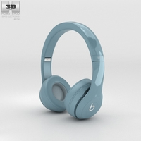 Beats by Dr. Dre Solo2 On-Ear Headphones Gray 3D Model
