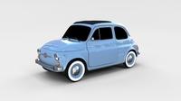 Fiat 500 Nuova 1957 rev 3D Model