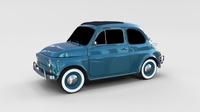 Fiat 1968 500L Luxe rev 3D Model