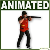 Male Skeet Shooter CG 3D Model