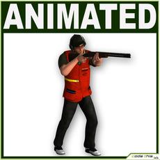 Male Skeet Shooter CG 3D Model