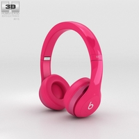 Beats by Dr. Dre Solo2 On-Ear Headphones Pink 3D Model