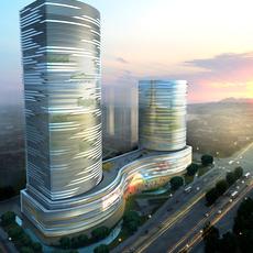 Exterior Office Building Scene 040 3D Model