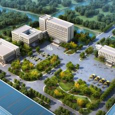 Exterior Office Building Scene 043 3D Model