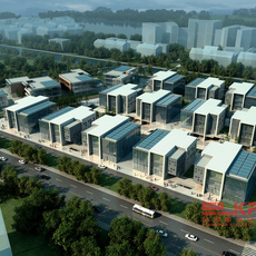 Exterior Office Building Scene 046 3D Model