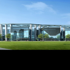 Exterior Office Building Scene 050 3D Model