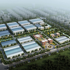 Factory building 003 3D Model