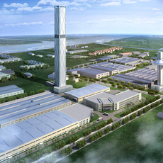 Factory building 006 3D Model