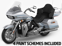 Harley Davidson CVO Road Glide Ultra 2016 3D Model