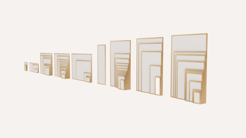 60 Picture Frame Pack 3D Model