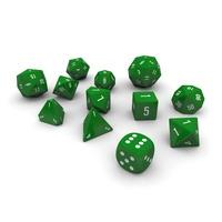 Polyhedral Dice Set - Green 3D Model