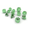 06 10 37 247 dice green glass 01 4