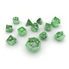 06 10 39 736 dice green glass 04 4