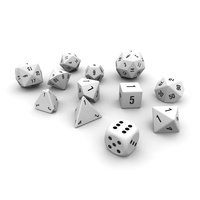 Polyhedral Dice Set - White 3D Model